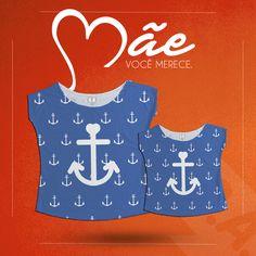 Para um look moderno, Tal mãe tal filha Ancoras! #talmãetalfilha #ancoras #navy