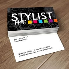 37 best hair salon business card templates images on pinterest bold hair salon business card cheaphphosting Gallery