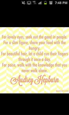 Audrey Hepburn, you wonderful woman <3