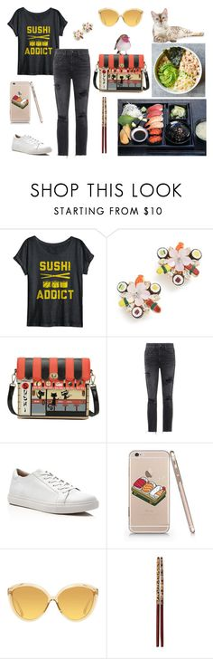 """""""Sushi Set"""" by christined1960 ❤ liked on Polyvore featuring Venessa Arizaga, GRLFRND, Kenneth Cole and Linda Farrow"""