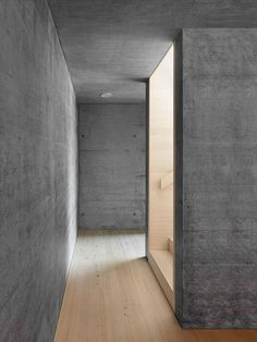 Haus am Moor is a minimalist house located in Krumbach, Austria, designed by Bernardo Bader Architects. Within the private forest of Schwarz...