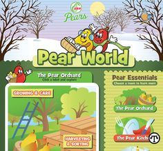 Website Shows Kids Pears Are A Fun Fruit