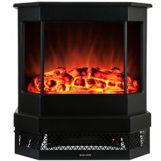 Akdy 23-inch 2 Setting 1500W Adjustable 5200BTU Tempered Electric Insert Fireplace Stove Heater