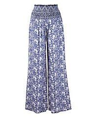 Printed Crinkle Trouser Length 27in   Simply Be