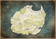 Fallen Flame - J. Map Design, Vintage World Maps, Fantasy, Fall, Autumn, Imagination, Fantasia