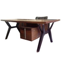Executive Desk by Ico and Luisa Parisi for MIM, Italy 1958 | From a unique collection of antique and modern desks and writing tables at http://www.1stdibs.com/furniture/tables/desks-writing-tables/