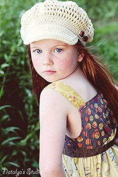 Ravelry: Crochet Newsboy Hat for Babies, Kids, Teens pattern by Natalya Berezynska