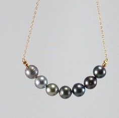 Tahitian Pearls ( The Tahitian Treasure Collection )    Seven beautiful Tahitian Pearls approximately 7.5-8mm. Different Colors.    High quality