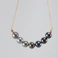 Perles de Tahiti / noir perles / classique / élégant / contemporain / noir / perle / collier