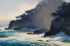 Brian Blood - Misty Morning in Point Lobos- Oil - Painting entry - November 2013 | BoldBrush Painting Competition