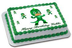 PJ Masks Gekko Edible Birthday Cake Topper OR Cupcake Topper, Decor
