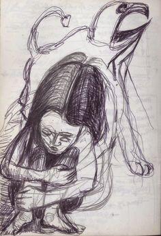 LUIS DESENHA: A criança e o medo.