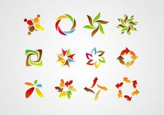 Abstract Sign,Symbol,Logo, Icon Design Elements