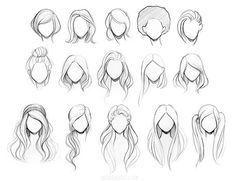 New Fashion Drawing Tutorial Sketches Hair Reference 56 Ideas Colorful Drawings, Cool Drawings, Drawing Sketches, Drawing Ideas, Pencil Drawings, Drawing Art, Easy Hair Drawings, Drawing Faces, Drawing Tips