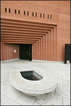 Cathedral in Evry France. Mario Botta 1988-1995