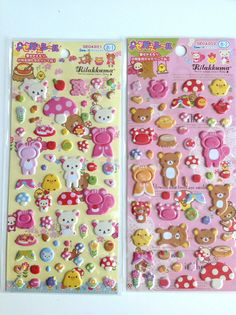 Rilakkuma stickers , new rilakkuma , cute 3d stickers , colorfull stickers , kids stuff , kawaii stickers via Etsy