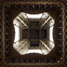 Paris, Eiffel tower, the view from below
