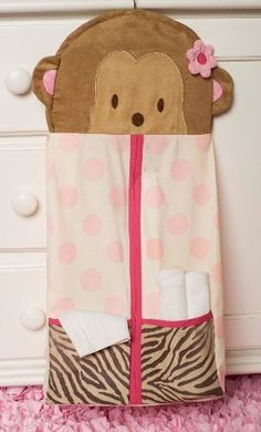 Baby Sophia's adorable monkey diaper stacker!!!!!