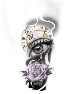 Armband Tattoo Design, Clock Tattoo Design, Sketch Tattoo Design, Tattoo Sleeve Designs, Tattoo Sketches, Sleeve Tattoos, Stencils Tatuagem, Tattoo Stencils, Cover Up Tattoos