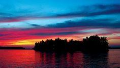 Beautiful sunset @ Lake of Bays Canada