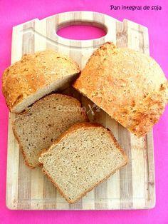 Cocinax2. Las recetas de Laurita.: Pan integral de soja en panificadora
