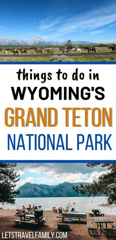 Visit Grand Teton National Park this summer and find fun things to do in Grand Teton National Park. The Tetons are beautiful, and there's so much nature and great hikes to go on. Swimming, horse back riding, or taking your kids to get their junior ranger badges can be fun too. Add Grand Teton National Park to your bucket list of US National Parks to visit this summer. #grandteton #grandtetonnationalpark #usnationalpark #hikes #hiking National Parks Usa, Grand Teton National Park, Field Trips, Horseback Riding, Rocky Mountains, Wyoming, Badges, Grand Canyon, Stuff To Do