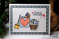 Rachel's Card Corner: Love Machine - Paper Smooches, Squeaky Clean