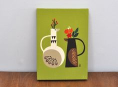ファブリックパネル「Vase of bird」   iichi(いいち)  ハンドメイド・クラフト・手仕事品の販売・購入