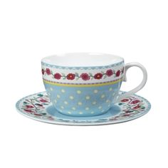 Tea Dance Blue Cup & Saucer, Whittard of Chelsea