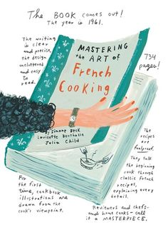 """Julia Childs Mastering the Art of French Cooking - Jessie Hartland""  CHRISTMAS 2015 GIFT"