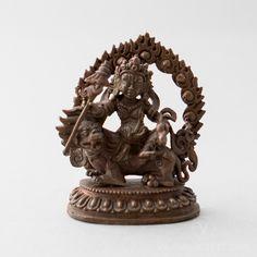 NAMTOSE COPPER STATUE, 2.8 INCHES #wealth deity #vaishravana #northern #protector https://www.vajrasecrets.com/namtose-copper-statue-2-8-inches