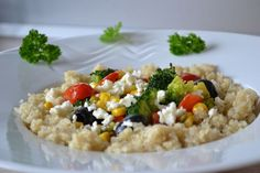 quinoa so zeleninou Quinoa, Risotto, Rice, Ethnic Recipes, Food, Eten, Meals, Diet