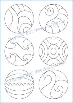 Strings for drawing zentangle patterns in the circle templates for drawing zentangle patterns, tangle pattern Digital string printable. Cd Crafts, Arts And Crafts, Cd Art, Zentangle Patterns, Zentangles, Stained Glass Patterns, Free Mosaic Patterns, Mosaic Projects, Free Motion Quilting