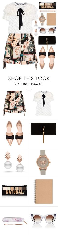"""In Paris"" by stavrolga on Polyvore featuring River Island, Philosophy di Lorenzo Serafini, Yves Saint Laurent, Escalier, Olivia Burton, NYX, Ted Baker, Thierry Lasry, vintage and bows"