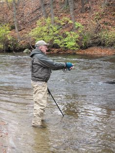 Wading Stick used in fly fishing.
