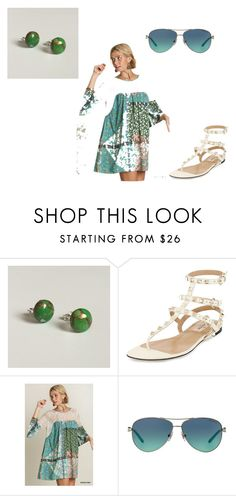 """""""Green Summer"""" by littlegemsbyluisa on Polyvore featuring Valentino, Umgee and Tiffany & Co."""