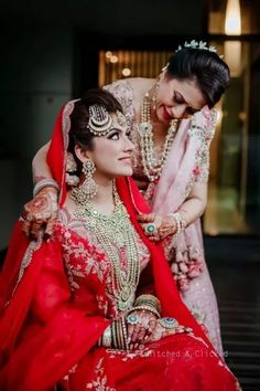 Elegant Wedding With Stunning Jewellery And A Unique Bridal Lehenga Indian Wedding Photography Poses, Bride Photography, Mother Daughter Wedding, Mother Of The Bride, Bridal Pictures, Bridal Pics, Family Outfits, Family Clothes, Groom Outfit