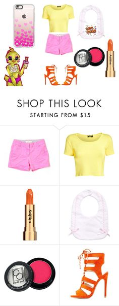 """""""Toy Chica Cosplay"""" by ddmlpfan ❤ liked on Polyvore featuring J.Crew, Pilot, Sisley, Bebe, Paula Dorf, Freddy, Qupid, Casetify, toy and chica"""