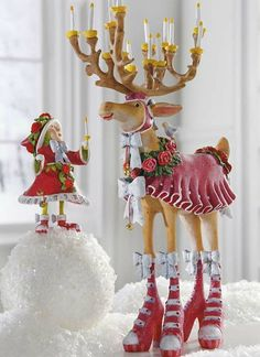Add a whimsical touch to your Christmas display with the Patience Brewster Donna Dash Away Reindeer Character that features beautiful hand-painted details and joyous expression.