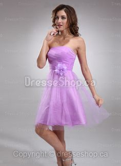 Mini Lilac Side-Draped Homecoming Dress