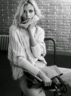 fashionknits:  Anja Rubik, Massimo Dutti Fall-Winter 2014