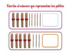 ABN Escribe el número que representan los palillos centenas 6