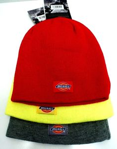 fdd56756a67 DICKIES Men s Cuffed Beanie Bright Yellow Red Gray W  Logo Patch One Size   fashion  clothing  shoes  accessories  mensaccessories  hats  ad (ebay  link)