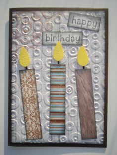 Love making these simple cards for the males in your life with scraps of paper - so quick and easy. Homemade Cards For Men, Birthday Cards, Happy Birthday, Love Craft, Cardmaking, Scrap, Paper Crafts, Handmade Cards, Invites