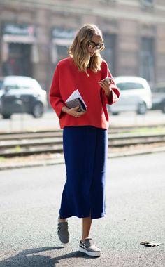 Hoe combineer je de midirok in de winter, 50 beste outfits - Fashion Mode, Star Fashion, Look Fashion, Daily Fashion, Street Fashion, Winter Fashion, Womens Fashion, Fashion Story, Paris Fashion