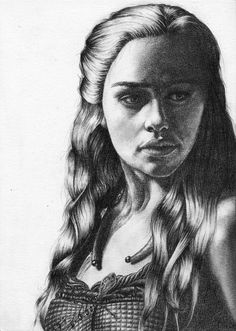 Emilia Clarke pour #GameOfThrones [Copyright : Sheepys_drawings]