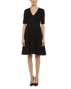 Nanette Lepore Catch A Mate Black Ponte Fit & Flare Dress is on Rue. Shop it now.