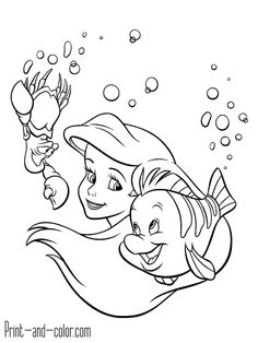 There are many high quality The Little Mermaid coloring pages for your kids - printable free in one click. Disney Princess Coloring Pages, Disney Princess Colors, Mermaid Coloring Pages, Disney Princess Drawings, Disney Drawings, Cartoon Drawings, Little Mermaid Drawings, Mermaid Sketch, The Little Mermaid