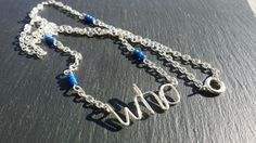 Doctor Who inspired personalised necklace by DorsetCreations
