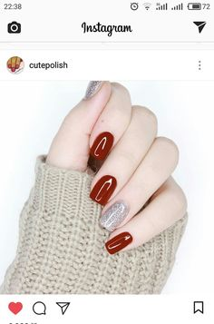 Nails Sencillas 2018 New Ideas Red Nail Designs, French Nail Designs, Trendy Nail Art, Classy Nails, Super Nails, Nagel Gel, French Nails, French Manicures, Winter Nails